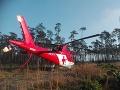 Hrozivá nehoda, pri ktorej zasahoval vrtuľník na FOTO: Z auta ostal vrak