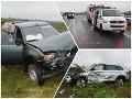 Tri nešťastia za pár hodín: FOTO Galantskí policajti riešia haváriu na obchvate a zrážky cyklistu a chodkýň
