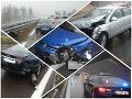 Upršaný utorok si vypýtal svoju daň: FOTO Na R1 sa to hemžilo nehodami, polícia poúča vodičov
