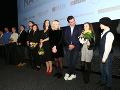 Delegácia tvorcov filmu Ženská na vrchole.