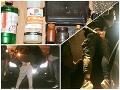 Masívny zásah kukláčov: FOTO Polícia narazila na drogovú stopu v okrese Krupina, zadržali dvoch ľudí