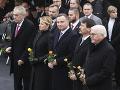 Frank-Walter Steinmeier, János Áder, Andrzej Duda, Zuzana Čaputová a Miloš Zeman