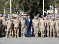 Premiér Pellegrini navštívil našich vojakov: Misia na Cypre je veľmi dôležitá, vyhlásil