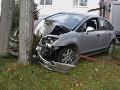 V Snine vyčíňal poriadne opitý šofér: FOTO Zničil plot, narazil do stĺpa a zranil spolujazdca