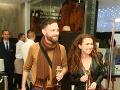 Anička Tásler Onderková prišla do spoločnosti v sprievode kamaráta, hudobníka Mateja Koreňa.