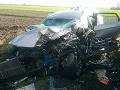 PRÁVE TERAZ Hrozivá nehoda pri Galante: FOTO Cisterna sa zrazila s autom, zasahuje aj vrtuľník
