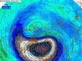 Cirkulácia, geopotenciál a teplota v stratosfére (hladina 10 hPa, teda okolo 30 km), 25.11.2019.