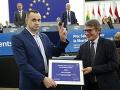 FOTO Sencov si prevzal Sacharovovu cenu: Vyzval Európanov, aby neverili Putinovi