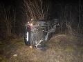 FOTO dramatickej dopravnej nehody: Mladík (22) nezvládol riadenie, opäť úradoval alkohol