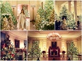 Gýčové Vianoce v Bielom dome: VIDEO Melania ukázala stromčeky s americkými vlajkami