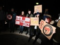 Protest proti mítingu strany