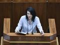 Poslankyňa Cigániková žiada vládu, aby stratifikáciu nemocníc z hlasovania nestiahla