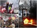 Paríž ochromil štrajk, protestovalo vyše 800-tisíc ľudí: VIDEO Rozbíjali výklady a zakladali požiare