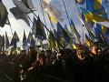 Ľudia sa búria v uliciach Kyjeva: Demonštranti s výzvou na samotného prezidenta