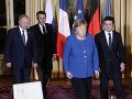 FOTO Historické stretnutie prezidentov Ukrajiny a Ruska: Prvé rozhovory Putina so Zelenským