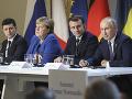 FOTO Veľké stretnutie mocných v Paríži: Na pretrase konflikt na Ukrajine, Putin ocenil snahu lídrov