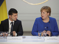 Volodymyr Zelenskyj a Angela Merkelová