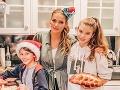 Takto si Andrea s rodinou užívala sviatky.