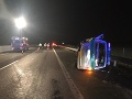 PRÁVE TERAZ Vážna nehoda na D1 pri Piešťanoch: FOTO Vodič nabúral do vozidla mýtnej polície