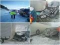 Na D1 pred Popradom sa zrazilo 17 áut, dve dodávky a autobus: FOTO Úsek je už prejazdný