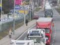 Štrajk autodopravcov v Bratislave
