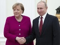 Merkelová sa stretla s Putinom: Riešili stúpajúce napätie vo viacerých oblastiach sveta