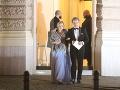Po polnoci z Plesu v opere odišla už aj herečka Monika Hilmerová s partnerom tanečníkom Jarom Bekrom.