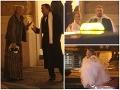 Herec Jozef Vajda pôsobil, akoby si pri odchode z plesu vymieňal s manželkou názory. Z SND odchádzal tiež muž so sukňou na krku.