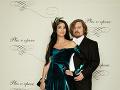 Módny návrhár Boris Hanečka s modelkou Luciou Hablovičovou