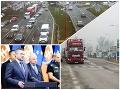 PRÁVE TERAZ Autodopravcovia po drsnom odkaze Pellegriniho uvoľnili všetky blokované úseky ciest