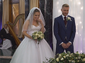 Júlia a Ľubo počas svojho svadobného obradu.