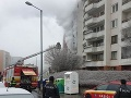 Požiar bytu v Bratislave.