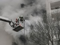 Požiar v Bratislave.