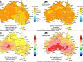Vývoj odchýlok maximálnej dennej a priemernej dennej teploty vzduchu vo vybraných obdobiach roku 2019 na území Austrálie podľa údajov BOM