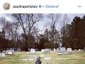 Pavlína Pořízková zverejnila na instagrame fotku z cintorína.