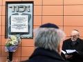 Pietna spomienka na pamiatku obetí holokaustu na stanici v Poprade pri príležitosti prvého transportu židovských dievčat zo Slovenska do koncentračného tábora Osvienčim, FOTO: TASR/Lukáš Furcoň