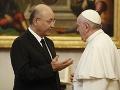 FOTO Pápež sa stretol s irackým prezidentom: Vyzval ho, aby chránil kresťanov