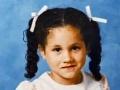 Meghan Markle v čase keď chodila do školy.