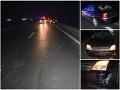 Tragická smrť chodca (†48) pri Trnave: Mrazivé FOTO z pohľadu vodiča, ako reflexný prvok zachraňuje život