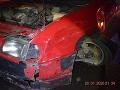 FOTO Opitý vodič so zákazom jazdiť spôsobil nehodu: Mladý muž nikdy nemal vodičský preukaz