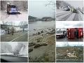 ONLINE Slovensko v zajatí počasia! FOTO Uzatvorené cesty, vylieva sa potok, vietor láme stromy a strháva fasády