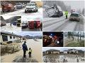 Počasie narobilo problémy takmer na celom Slovensku.