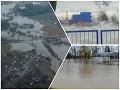 Slovensko v zajatí počasia! Letecké VIDEO záplav a burácajúce vlnobitie na Dunaji