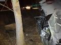 FOTO Vysoká rýchlosť sa podpísala pod nehodu v Hornej Súči: Vodič sa ťažko zranil