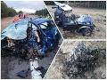 FOTO Obrovská tragédia pri Malackách: NIČIVÁ kolízia, vodiči (†22, †29) nemali šancu prežiť!