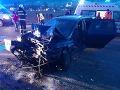 Vážna nehoda pri Ružomberku, úsek je neprejazdný: FOTO Kolízia dvoch áut a dodávky, hlásia troch zranených