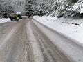 Cesty a horské priechody sú zjazdné, miestami platia obmedzenia: Na horách platí výstraha