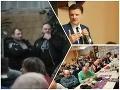 VOĽBY 2020 Míting KDH v Dubnici nad Váhom narušili kotlebovci: Hajlovanie na katolíkov, vraj sú falošní