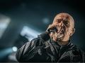 Britský spevák Peter Gabriel,