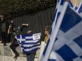 FOTO Obyvatelia gréckych ostrovov protestovali v Aténach: Nechcú nové utečenecké tábory